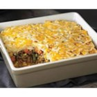 Easy Shepherd's Pie - Browned ground beef with vegetables and gravy are topped with cheese-y mashed potatoes then baked until hot in this quick version of a classic.
