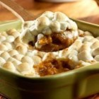 Heavenly Sweet Potatoes - Sweet potatoes mashed with Swanson(R) Chicken Broth are seasoned with cinnamon and ginger, then topped with mini-marshmallows for a delicious side dish that pairs perfectly with ham or turkey.
