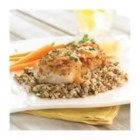 Pretzel Crusted Cod with Apricot Dijon Sauce - Cod fillets are coated with seasoned crushed pretzels, cooked until golden brown and served with an apricot-dijon mustard sauce in this quick and tasty preparation.
