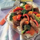 Campbell's Kitchen Beef Stir-Fry - Beef and vegetables stir-fry quickly to tenderness and are sauced with a classic broth, soy and garlic mixture.