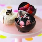 Ghirardelli(R) Chocolate Dessert Cups - Fill these cups with ice cream, sorbet, chocolate mousse, or fresh fruit such as raspberries or strawberries for a dessert that is sure to impress.