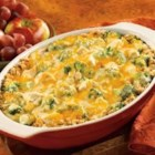 Turkey Stuffing Divan - Pepperidge Farm(R) Herb Seasoned Stuffing is topped with turkey, broccoli and a sauce made with Campbell's(R) Condensed Cream of Celery Soup and Cheddar cheese, then baked until hot.