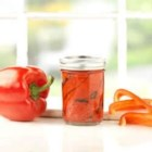 Roasted Red Pepper Spread - Roasted red pepper and tomato spread with fresh basil looks fabulous and tastes just as good.