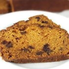 Chocolate Chip Pumpkin Bread - This spicy pumpkin bread dotted with mini chocolate chips makes a fun seasonal treat.
