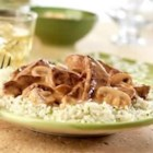 Campbell's(R) Beef and Mushroom Dijon - Saucy beef sirloin steaks simmer in a creamy onion and mushroom sauce, perfect over rice.