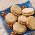 Walnut Sandwich Cookies - These cookies are really easy to prepare. I've made this recipe many times over the years, and the cookies are always a hit.