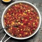 Sausage-Corn Chili - For a quick week-night meal, this chili--with sausage, kidney beans, corn, and just the right kick--can't be beat.