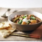 Slow Cooker Beef and Potato Curry - A slow-simmered curry with mild spicing is just the thing to warm you up on a wintry day. Serve with warmed Naan bread and a crisp cucumber salad.