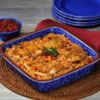 Fiesta Chicken and Rice Bake - Pace(R) Fiesta Chicken and Rice Bake features easily found ingredients and bakes with no attention from the cook. Round out the meal with packaged lettuce mix and your family's favorite sorbet.