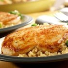 Quick and Easy Chicken, Broccoli and Brown Rice - Need a quick and tasty dish to satisfy your family?  This easy skillet supper featuring chicken, broccoli and brown rice simmering in a creamy gravy is delicious and ready in a snap.