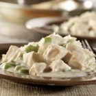 Quick Chicken a la King - This creamy chicken with diced green or red peppers makes a perfect topping for rice or potatoes, and is a family favorite.