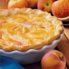 Peach Cream Pie - My family loves this dessert and asks for it often. It's a breeze to make and is delicious served warm or cold.