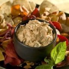Sun-Dried Tomato Dip - This creamy dip featuring with sun-dried tomatoes, basil, and garlic tastes great on EVERYTHING!