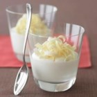 White Chocolate Mousse - A touch of orange liqueur melted into the white chocolate makes this simple mousse an elegant dessert.  Try with mint or coffee liqueur, or with fresh fruit on top.