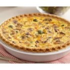 Broccoli and Cheddar Quiche - Lots of shredded cheese and crisp-tender vegetables baked in a deep dish pie shell make this a great quiche for a special brunch.