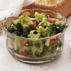 Marinated Broccoli - Edna Hoffman of Hebron, Indiana offers this festive side dish thats ideal for holiday dinners.