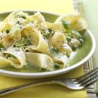 Pasta al Limone with Ricotta Cheese - Fresh pasta coated with cream, Canadian cheese and fresh herbs makes for a spectacular refreshing light tasting side dish.