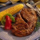 Grilled Honey-Soy Pork Steaks - You'll love the simple marinade for these pork steaks. In fact, you probably have the ingredients on hand. You can substitute any type of pork chop for the blade steaks in this recipe to suit whatever you have on hand. Serve with grilled corn on the cob and fresh fruit kabobs.