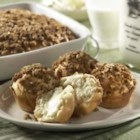 Quick N' Easy Coffee Cake or Muffins - A light, not-too-sweet coffee cake dough is topped with brown sugar and walnuts and baked until golden brown.