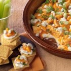 PHILLY Buffalo Chicken Dip - This tasty appetizer takes only 12 minutes to prepare and is perfect for last minute entertaining. Guests are sure to love the modern twist on classic buffalo wings.