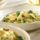 2-Step Creamy Chicken and Pasta - Frozen vegetable and pasta blends are a great time saver, rounding out this dish into a one dish meal. Choose your favorite cream soup to create the creamy sauce!