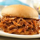 Campbell's(R) Slow-Cooked Pulled Pork Sandwiches - These fabulous sandwiches feature pork shoulder that is slow cooked in a barbeque sauce made with Campbell's(R) Condensed French Onion Soup.