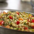 Rice and Lentil Pilaf - Enjoy colorful vegetables, delicious grains and legumes in this savory side dish cooked in Swanson(R) Vegetable Broth.