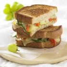 Grilled Gruyere and Roasted Vegetable Sandwich - Eating your vegetables has never been more enjoyable.