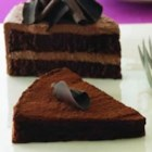 Ghirardelli(R) Flourless Mocha Torte - Indulge your senses with decadent layers of rich chocolate cake and chocolate whipped cream frosting.