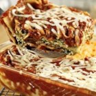 Extra-Easy Spinach Lasagna - Cheesy lasagna becomes more colorful and flavorful with the addition of spinach and Prego(R) Fresh Mushroom Italian Sauce.