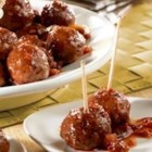 Beef Meatballs and Picante Glaze - Great for cocktail parties, casual get-togethers or anytime, these baked meatballs are especially easy to make . . . and the glaze is so good, it makes them hard to resist.