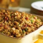 Caramelized Onion with Pancetta and Rosemary Stuffing - Pancetta is the secret ingredient that makes this moist stuffing really flavorful. If you don't have pancetta on hand, bacon works great too!