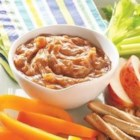 Apple Cinnamon Peanut Butter Dip - Cinnamon apple preserves mixed with creamy peanut butter makes a great dip for pretzels.