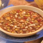 Southwestern Chicken and White Bean Soup - After a long day, come home to this savory soup, made in the slow cooker with tender chicken, white beans, sweet corn and salsa.