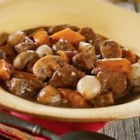 Slow Cooker Beef and Mushroom Stew - It takes just 20 minutes to put this dish together - then you can enjoy your day, as the slow cooker does the work for you.  You'll come home to a tender and savory beef and mushroom stew.