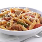 Zesty Penne, Sausage and Peppers - This lively sauce uses cream cheese to create a rich, velvety texture like your favorite vodka sauce.