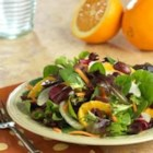 Orange and Fennel Salad - Salty kalamata olives balance the sweet orange in this salad. The tangy orange vinaigrette brings it all together.
