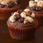 Ghirardelli Rocky Road Cupcakes - Gooey, crunchy, decadent little cupcakes with big chocolate flavor . . .