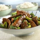 Beef and Broccoli - Steak strips are stir-fried with broccoli and simmered in a tangy tomato sauce. Served over rice, this tasty dish is sure to please your dinnertime crowd.