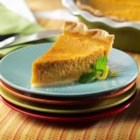 Sweet Potato Pie from the LACTAID(R) Brand - This satiny sweet potato pie seasoned with nutmeg, cinnamon, and vanilla flavors are guaranteed to win applause from guests at Thanksgiving or any special occasion.