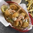Shrimp Po' Boys - Crispy fried shrimp sandwiches are served piping hot with a spicy and tangy remoulade sauce.