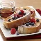 Vanilla French Toast - Vanilla extract and ground cinnamon bring ordinary French toast to a new flavor level, especially when served with real maple syrup!