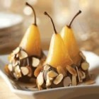 Almond Chocolate Poached Pears