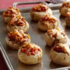 Tex Mex Stuffed Mushrooms - Mexican-inspired stuffed mushrooms filled with cheese and red bell peppers make a quick great appetizer or snack.