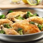 Lemon Chicken with Broccoli - Sauteed chicken and tender-crisp broccoli are infused with flavor from a savory lemon sauce in this exquisite skillet dish.