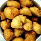 "Hush Puppies I - These Southern delicacies are ""oniony"" little cornmeal balls fried in oil."