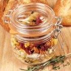 Love Soup Mix in a Jar - A thoughtful gift for a sick friend, new neighbors, or expecting parents, this jar of soup ingredients is like giving a home-cooked meal (almost!).  Dry pasta, split peas, barley, lentils, and rice are layered in a jar, with attached seasoning packet and instructions.