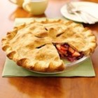 Festive Apple-berry Pie - There's no need to thaw the cranberries when making this luscious fruit pie.