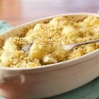 Cauliflower alla Parmigiana - Cauliflower florets are parboiled, then baked until golden brown with butter, Parmesan cheese and lemon pepper panko crumbs.