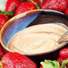 Tina's Fruit Dip - A creamy, vanilla dip that is delicious warm, but even better chilled.